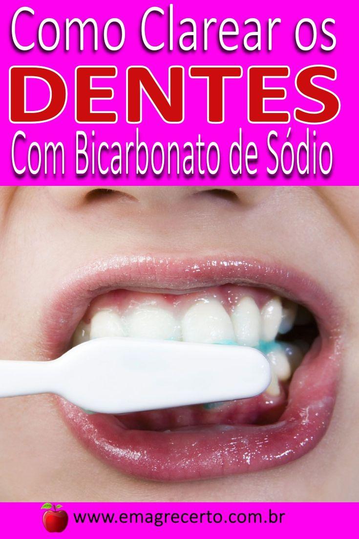 Como Clarear Os Dentes Com Bicarbonato Clarear Dentes Clareador