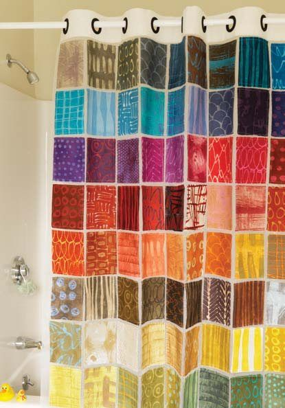 126 best Quilted Shower Curtains images on Pinterest  Bathroom Bathroom ideas and Patchwork