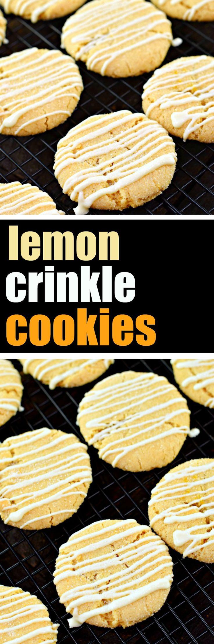 Lemon Crinkle Cookies #recipe #cookies #cookierecipe #lemoncookies #lemondessert #whitechocolate #lemondoodle