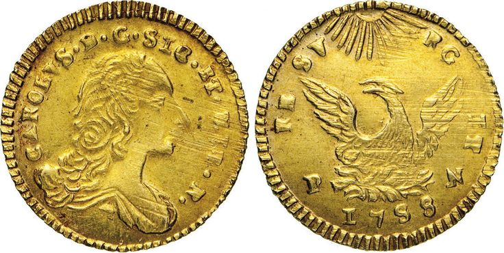 NumisBids: Numismatica Varesi s.a.s. Auction 65, Lot 539 : PALERMO - CARLO DI BORBONE (1734-1759) Oncia d'oro 1758, sigle P N....