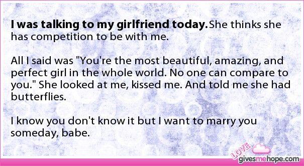 True love - I was talking to my girlfriend today.