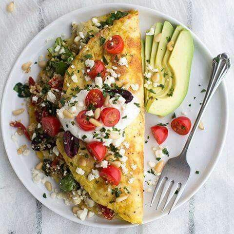 ❤ Griechisches Omelette Rezept : Zutaten 6 große Eier 1/4 Tasse Milch 2 EL…