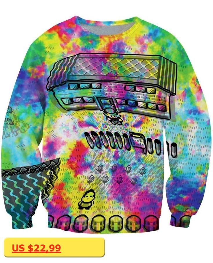 Unisex Women Men 3d Pull Print Jumper Pallet Towns Acid Trip Sweatshirt pokemon trippy pokedelics Sweats Moletons Hoodies tops