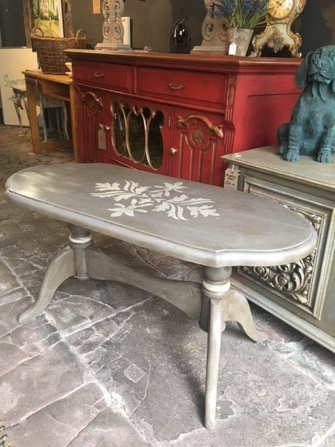 Oval Shaped Coffee Table Painted Tables