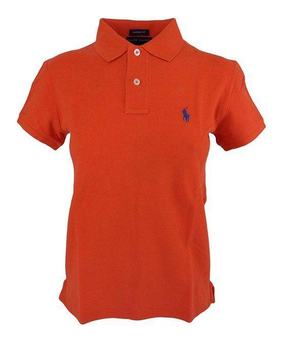 $32.99 - Ralph Lauren Women\u0027s Classic Fit Pony Logo Polo T-Shirt Highland  Orange #