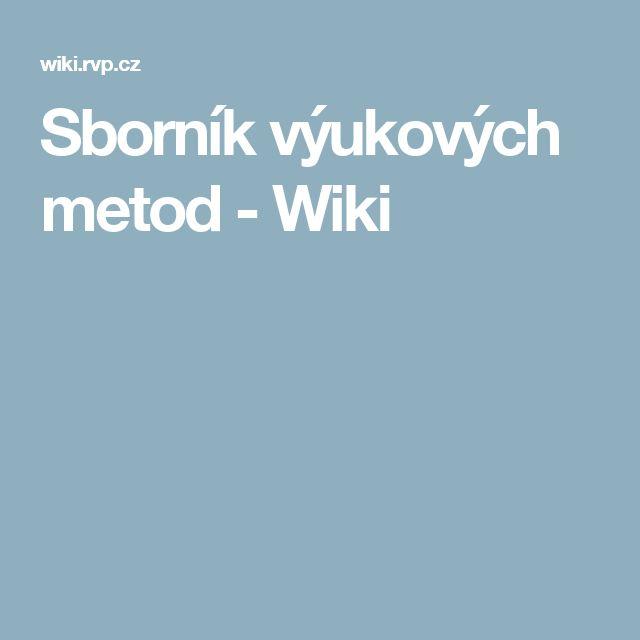 Sborník výukových metod - Wiki