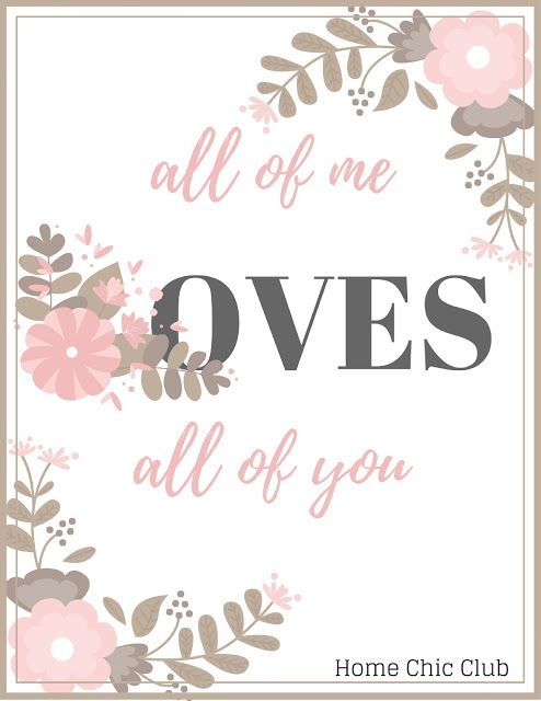 Free Valentine's Day Printables for your loved ones.