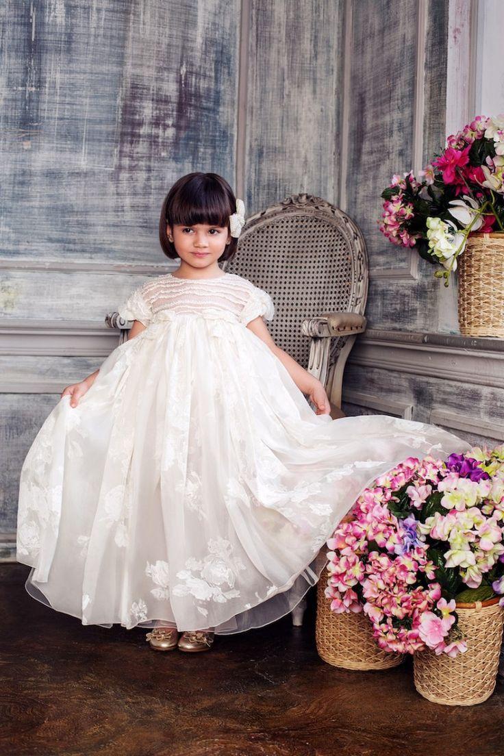 #White #embroidered #organza #dress #bolero