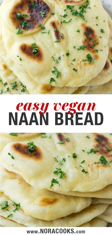 Einfaches veganes Naan-Rezept – So weich, flauschig und einfach zuzubereiten! #noracooks #vegan #pla …