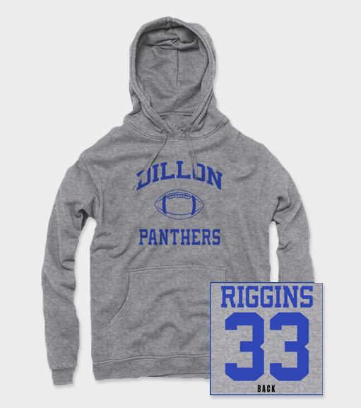 Awesome Tim Riggins hoodie inspired by the show Friday Night Lights. - High quality screen print - FREE SHIPPING on all orders over $50 - All items ship together - Items ship within 24-48 hours - Prin