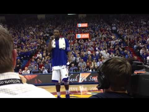 Elijah Johnson talks on KU Senior Night