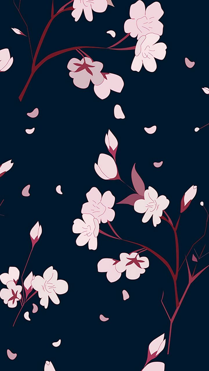 Pink Flowers Pattern Abstract Wallpaper Abstract Wallpaper