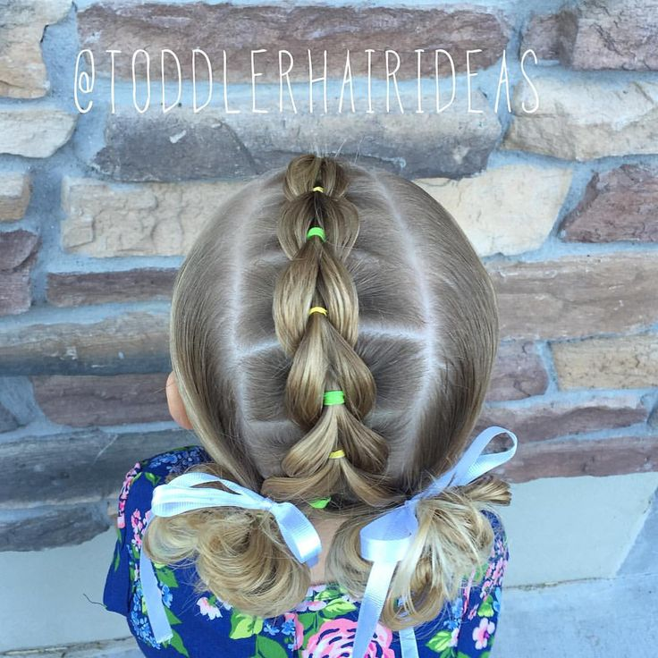 "423 Likes, 9 Comments - Cami 🎀 Toddler Hair Ideas (@toddlerhairideas) on Instagram: ""⭐️PULL-THROUGH BRAID TUTORIAL IS UP!! Link in bio!⭐️ Today I did a pull-through braid mohawk into 2…"""