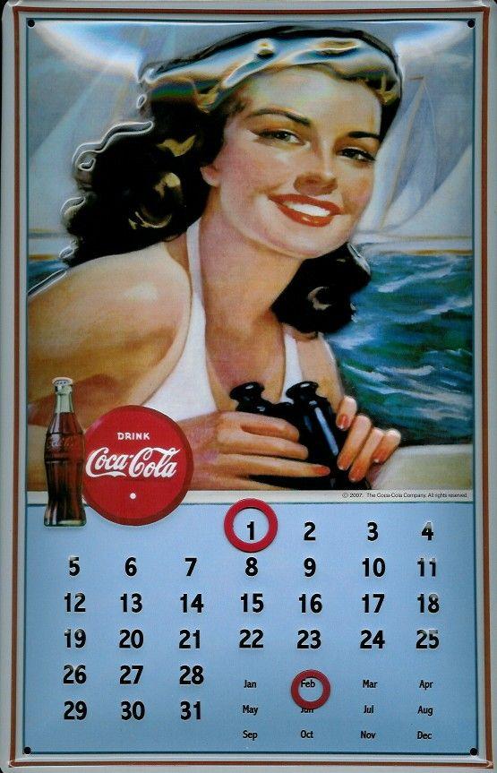 Vintage Calendar Girl Art : Best images about vintage coca cola on pinterest gil