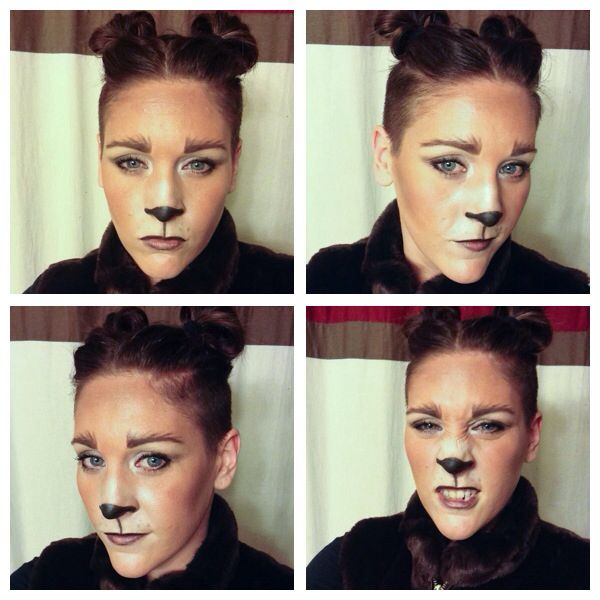 Bear Makeup Halloween DIY