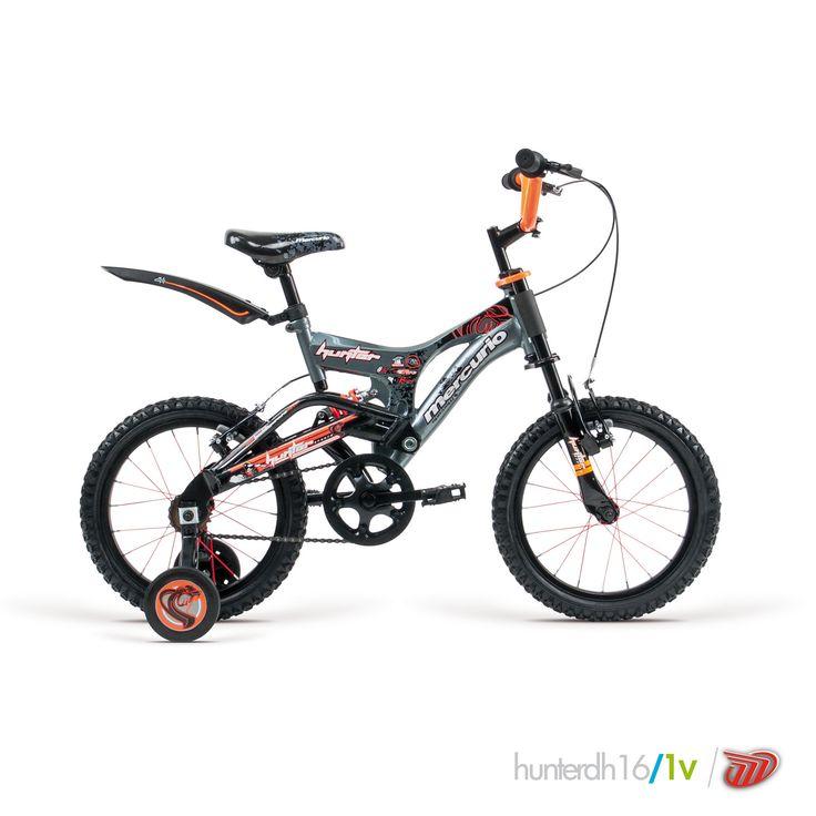 Bicicletas Mercurio Modelo Hunter16 Bicicleta para niños DH/Doble suspensión #bikes #bicicletas #bicicletasmercurio https://www.facebook.com/BicicletasMercurio