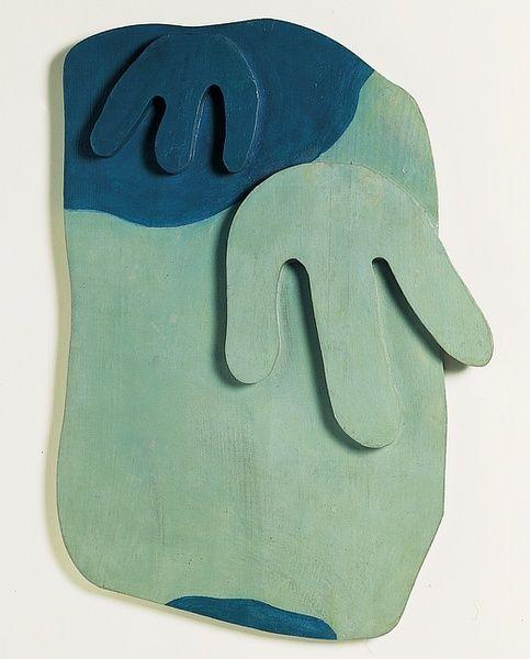 """archives-dada: """"Jean Arp, Tête paysage [Landscape Head], (1924 - 1926) Sculpture, Relief Bois peint à l'huile [painted wood], 58 x 40,5 x 4,5 cm, Paris, Centre Pompidou. © Adagp, Paris """""""