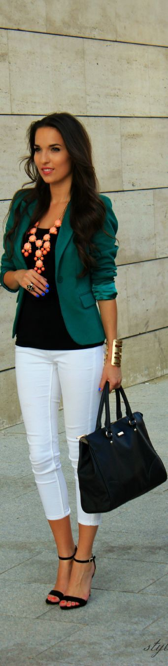 Minus the necklace. Need a different J Crew Statement Necklace.