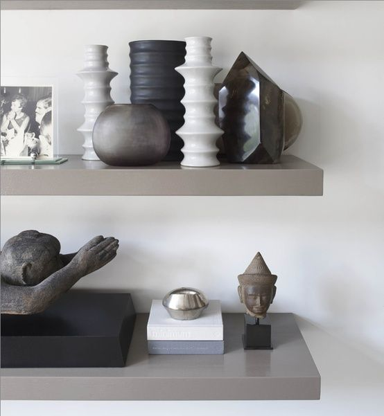 Kelly Hoppen | Styling shelves with art, books, frames & decorative objects