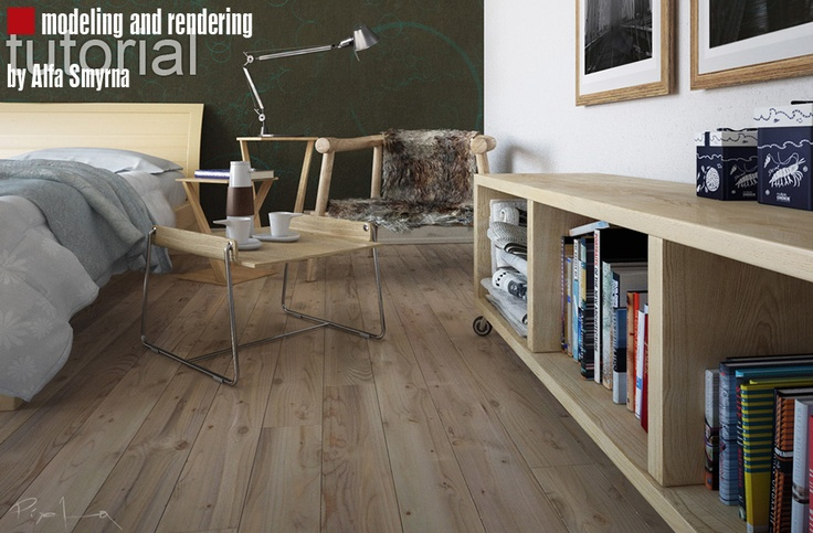 Modeling and rendering turorial of Bedroom scene - Alfa Smyrna