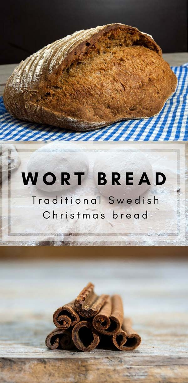 Wort bread is a traditional Swedish Christmas bread. It's loaded with tastes from spices, wort, and sourdough. It tastes Christmas.