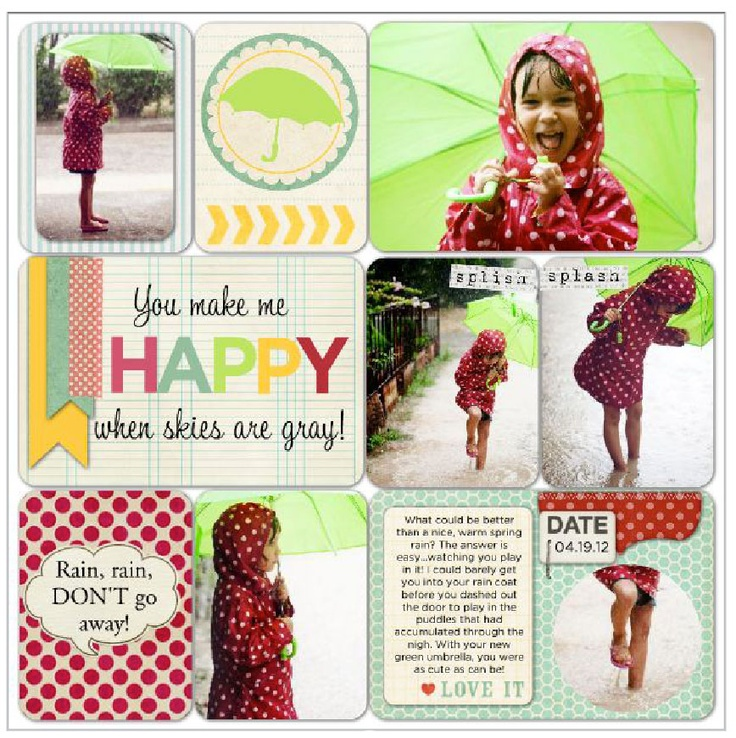 #digiscrap 12 x 12 layout in #projectlife style. #DIY with Heritage Makers template 103984