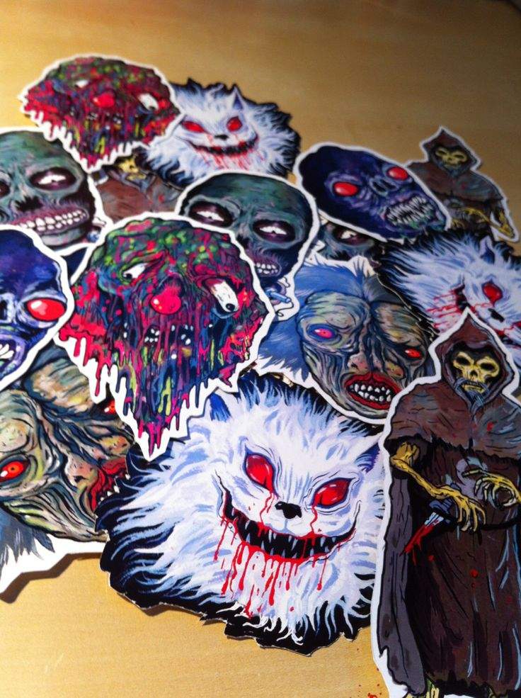 FEATURE CREATURES Series 3 - Cult Horror Sticker 6-Pack by TrevorHendersonArt on Etsy https://www.etsy.com/listing/130539682/feature-creatures-series-3-cult-horror