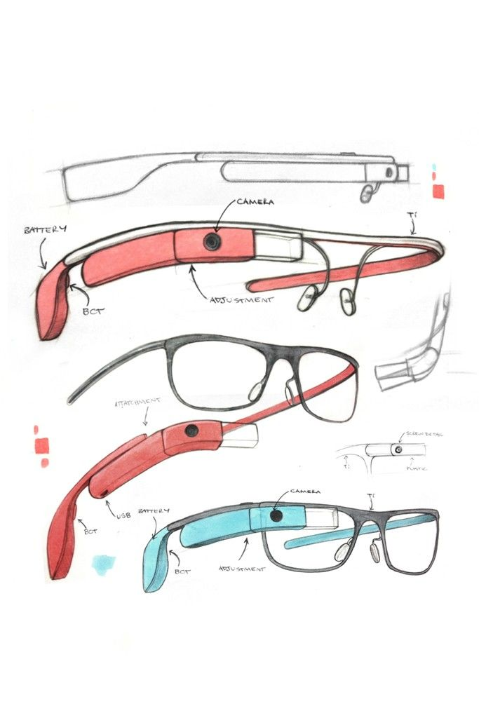 MONDO SKETCHES / Sketches for Google Glass frames.