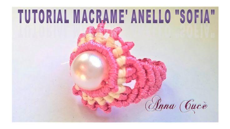 """Tutorial macramè anello """"Sofia""""/ Tutorial macramé ring """"Sofia""""/Diy tutorial"""