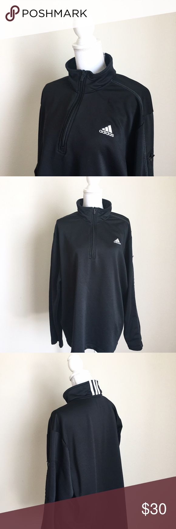Adidas Half Zip Sweater ✨ Adidas Half Zip Sweater - Warm & comfortable - Plus size 2X ✨ Adidas Sweaters