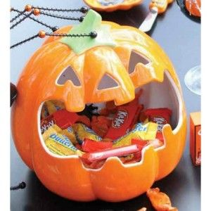 Halloween Candy Bowls:  Here are a collection of Halloween candy bowls that would be lovely & fun additions to Halloween decor.
