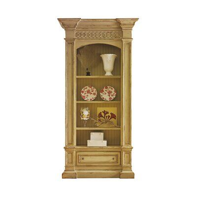 Habersham Hathaway Standard Bookcase Color: Classic Studio - Brittany, Accents: Champagne