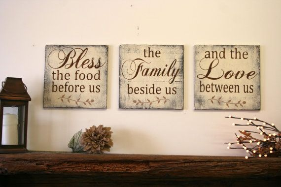 online shopping womens clothes Bless The Food Before Us Wood Wallhanging Wood Kitchen Sign Wood Dining Room Sign Distressed Wood Home Decor Rustic Chic Wedding Gift