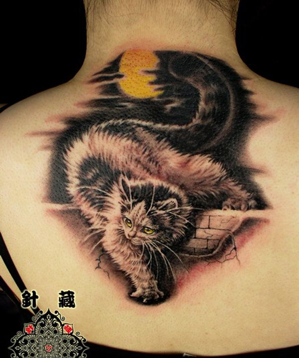 Cute Cat Tattoo!