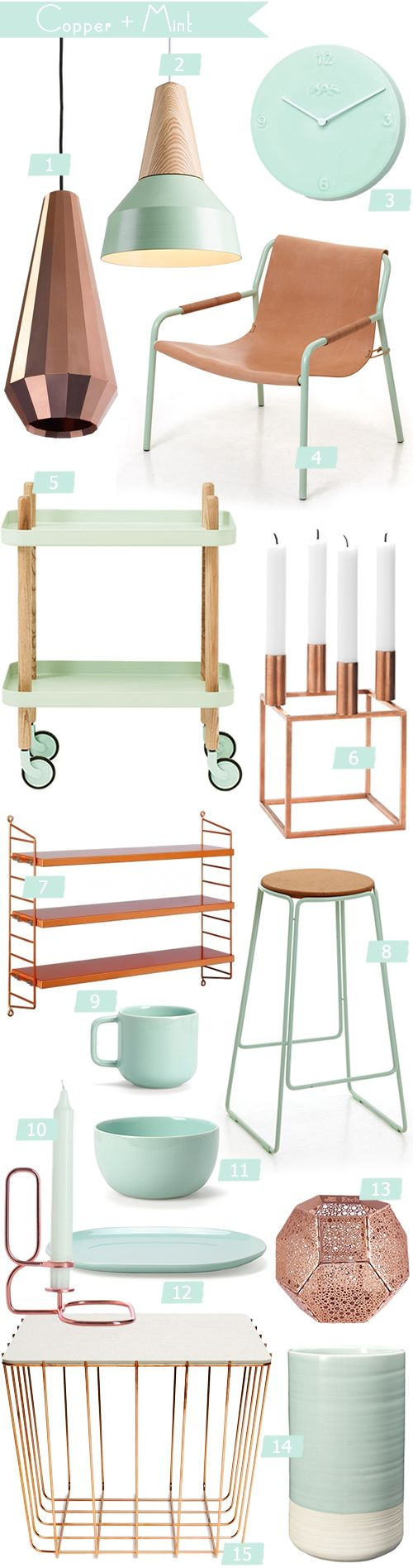 Color Crush {Copper + Mint} obsessed!!
