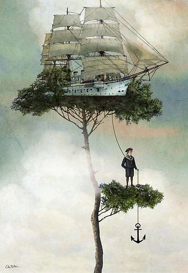 Catrin Welz-Stein: Catrin Welz Stein, Inspiration, Dream, Ship, Illustration, Canvas, Artist, Painting