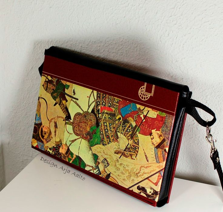 Purse, made of old book.