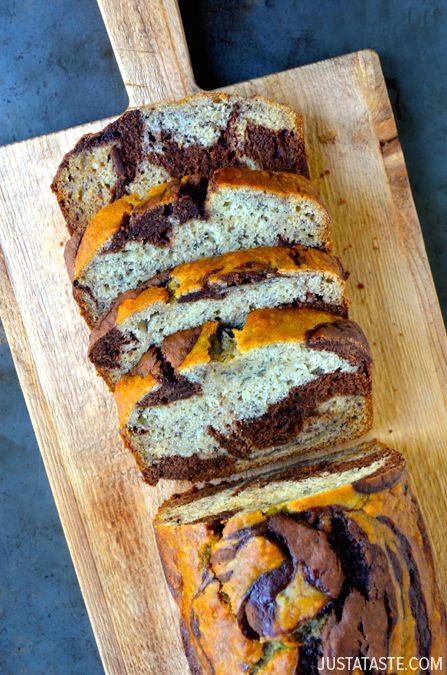 Chocolate Swirl Banana Bread #recipe