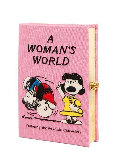 """CLUTCH LIVRE """"A WOMAN'S WORLD"""" AVEC BRODERIES"""