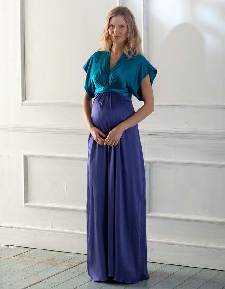 robe longue de cocktail pour femme enceinte seraphine idale pour les - Robe Longue Colore