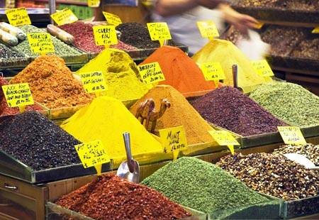 Spices at the Grand Bazaar.