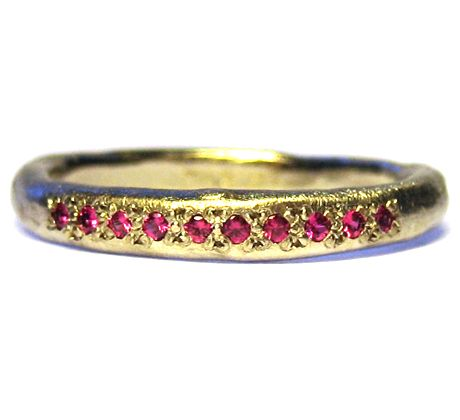 ~possibility ring~18K white gold with rubies~