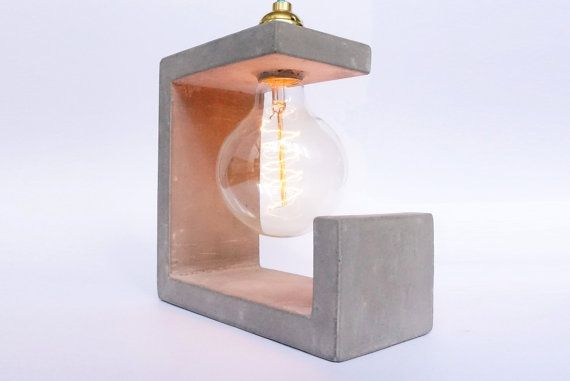 Concrete Sculpture Lamp by ConcreteEverything on Etsy