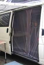 screen door and more custom fixes in this van
