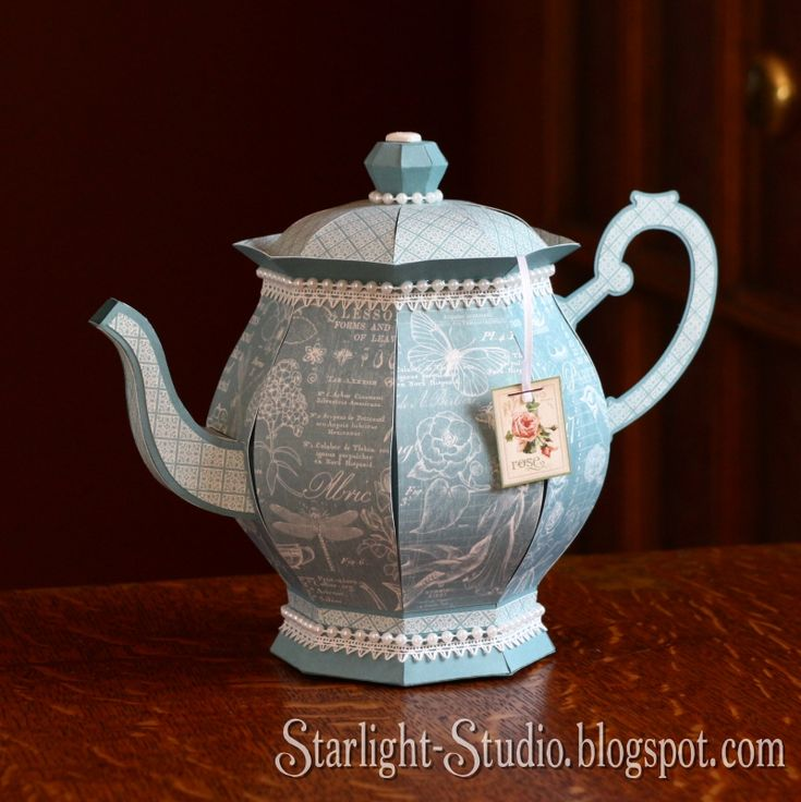 I've been busy, busy, busy! But I have been having some crafty fun too.   This victorian style tea pot is part of the Honeybee Tea kit by S...