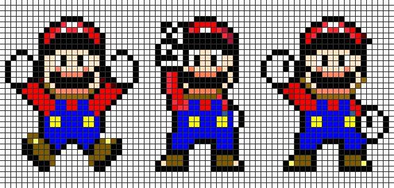 Patrones de Mario Bros en punto de cruz - Imagui