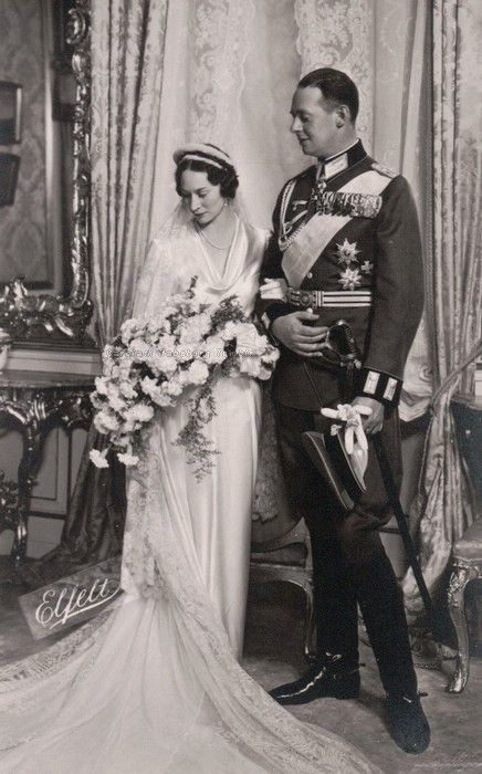 The Wedding of Princess Fedora of Denmark with her cousin Prince Christian of Schaumburg-Lippe. September 9, 1937 Fedora was grandaughter of King Frederik VIII of Denmark through her father, Prince Harald of Denmark and also, niece of Kaiserin Augusta Viktoria of Prussia through her mother, Helena Adelheid, who was daughter of Caroline Mathilde of Schleswig-Holstein