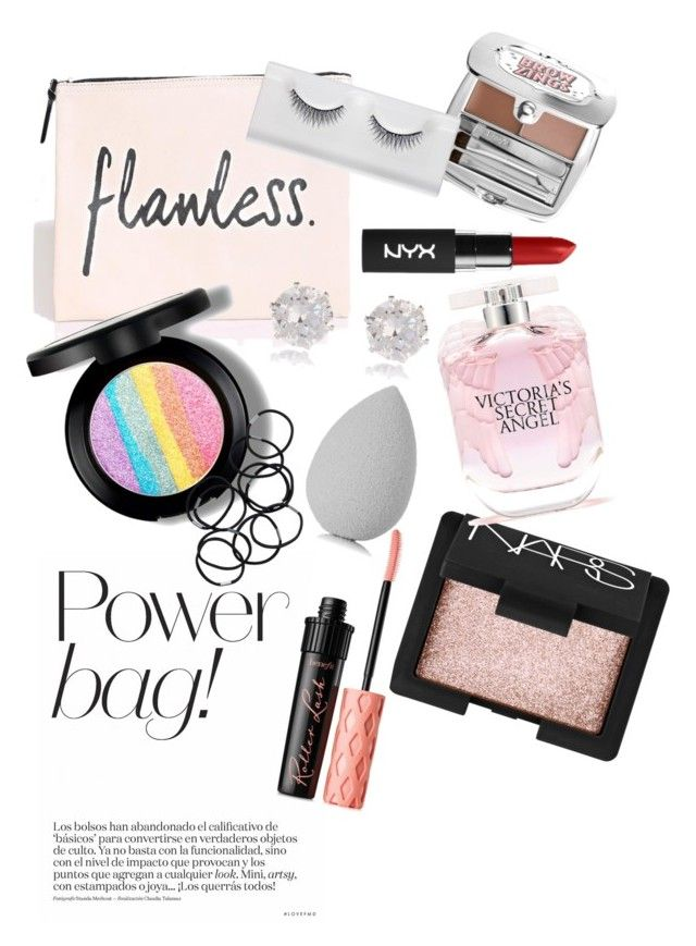 """""""What's in my bag"""" by hk-a on Polyvore featuring Benefit, NARS Cosmetics, beautyblender, Victoria's Secret, Monki and River Island"""