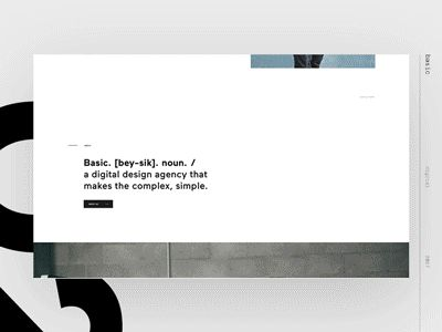Basic — Page to Page Transition  by Ben Mingo
