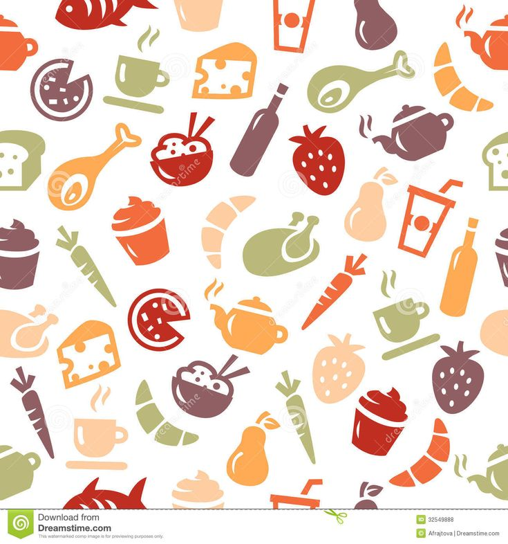 Food Pattern Wallpaper Tumblr Background With Food Icons